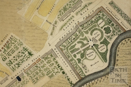A New and Accurate Plan of the City of Bath to the present year 1793 - detail