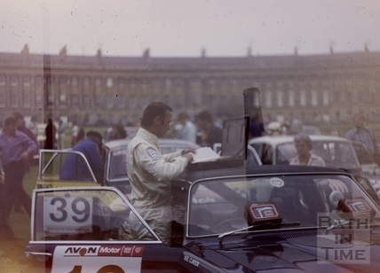 RAC Rally in front of The Royal Crescent, Bath 1973