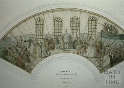 Fan view of the Pump Room, Bath 1736
