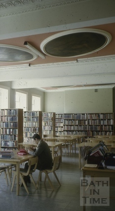 Bath Library, Queen Square, Bath 1956