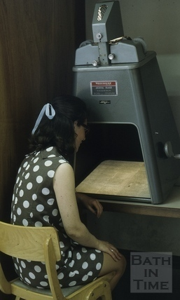 Microfilm Reader, Reference Library, Queen Square, Bath 1971