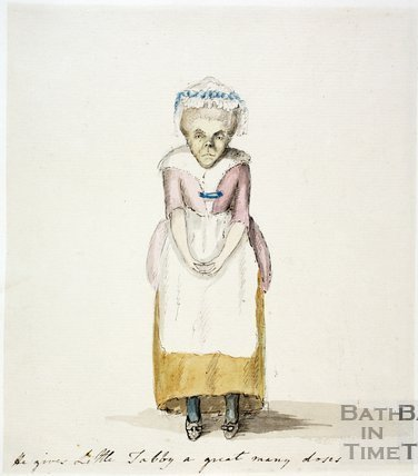 Watercolour sketch for Anstey's Bath Guide No. 3 c.1815