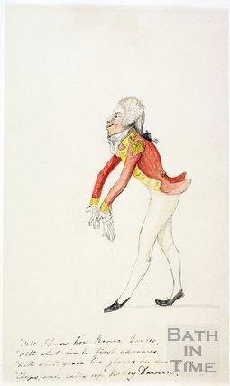Watercolour sketch for Anstey's Bath Guide No. 19 c.1815