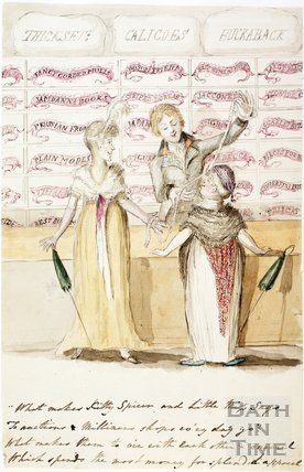 Watercolour sketch for Anstey's Bath Guide No. 22 c.1815