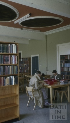 Bath Library, Queen Square, Bath 1956