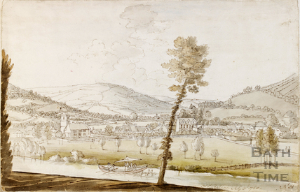 View across the Avon to Bathwick, Bath c.1740-1770