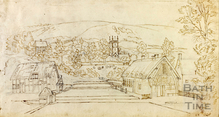 View of St. Mary's Church in Charlton Kings, Gloucestershire c.1740-1770