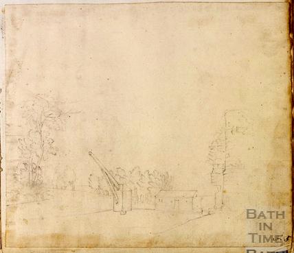 Padmores crane at Ralph Allen's Wharf, Widcombe, Bath c.1740-1770
