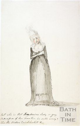 Watercolour sketch for Anstey's Bath Guide No. 34 c.1815