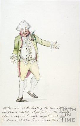 Watercolour sketch for Anstey's Bath Guide No. 30 c.1815