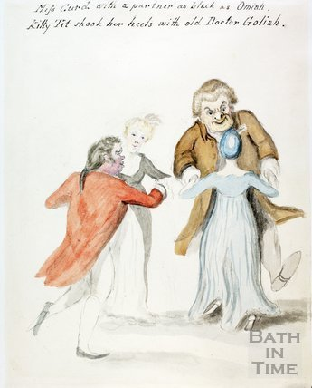 Watercolour sketch for Anstey's Bath Guide No. 62 c.1815