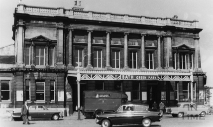 Outside Green Park station, Bath c.1965