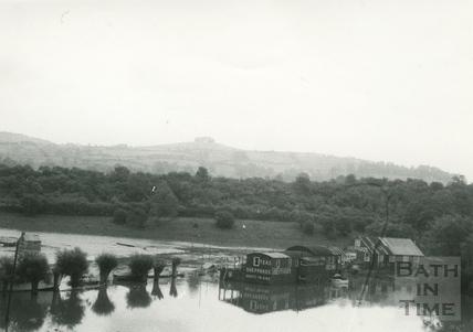 Saltford in flood 1968