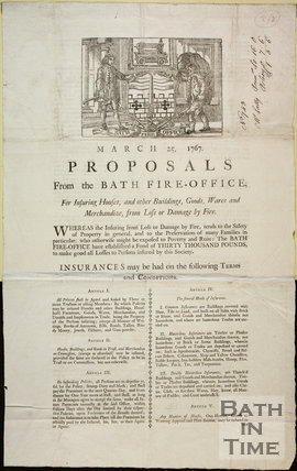Proposals from the Bath Fire-Office 1767