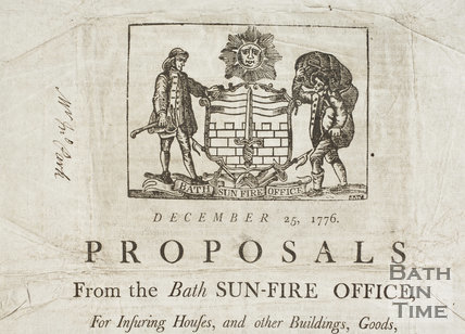 Proposals from the Bath Sun-Fire Office 1776 - detail