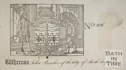 Bath Fire Office Certificate - St. Ann's Court, Parish of Walcot, Bath - detail