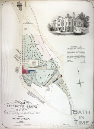 Plan of Lansdown Grove, the property of Sir Edward Cockburn Bart., Bath 1860