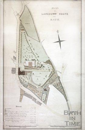 Plan of Lansdown Grove, Bath 1816