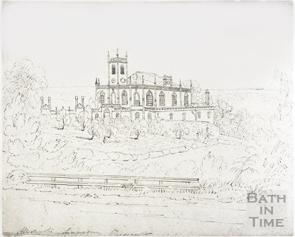 Sketch of All Saints' Chapel, Lansdown, Bath