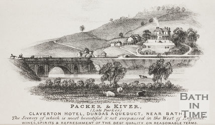 Packer & Kiver, Claverton Hotel, Dundas Aqueduct 1841