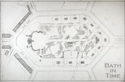 Plan of Sydney Gardens, Bath c.1830