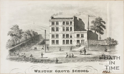 Weston Grove School, Weston Grove, Bath 1852
