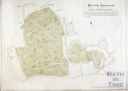Plan of the Improvements on the Bath Common Estate 1829