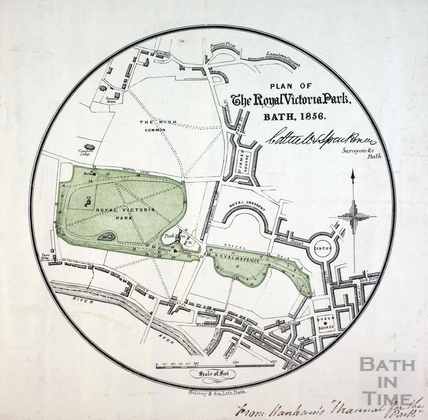 Plan of the Royal Victoria Park, Bath 1856