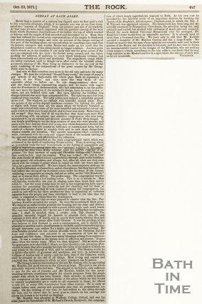 Sunday at Bath Abbey October 13th 1871