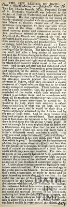The New Rector of Bath November 16th 1859