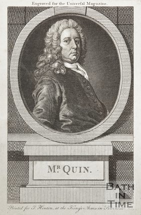 Engraving of Mr Quinn, the actor
