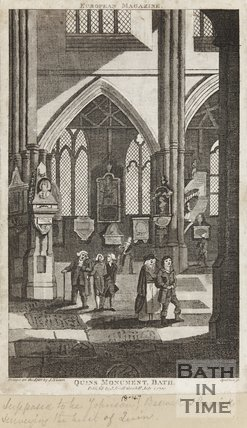 Quinn's Monument in Bath Abbey July 1st 1790