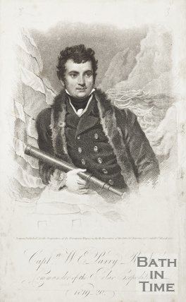 Engraving Captain W.E. Parry R.N., Commander of the Polar Expedition 1819-1820.