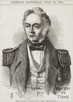 Portrait of the Late Rear-Admiral Sir E. Parry July 1855