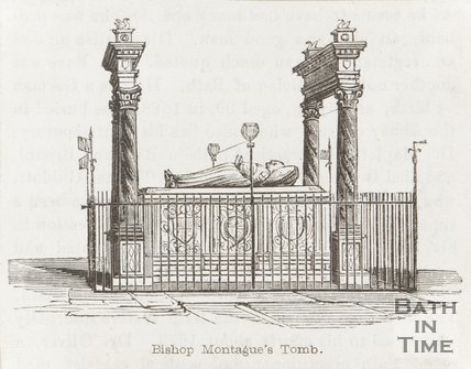 Engraving of Bishop Montague's Tomb