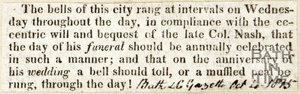Bell ringing at Bath Abbey, October 1845
