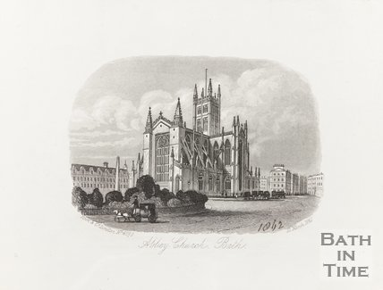 Engraving Abbey Church Bath 12th March 1861