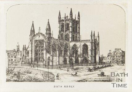 Engraving Bath Abbey 1858