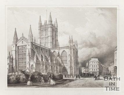 Abbey Church Bath from the Orange Grove 1850