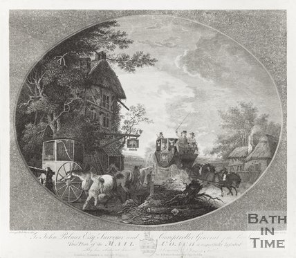 Engraving of Mail Coach