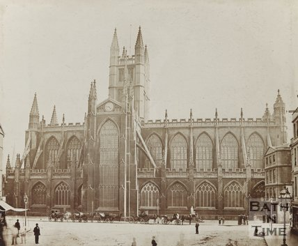 Photograph of North Side of Abbey c.1870