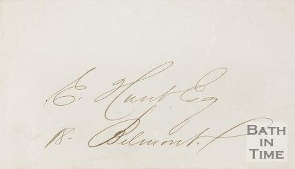 Envelope addressed to E. Hunt Esq