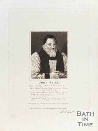 Portrait of John Still, Bishop of Bath and Wells O.B. February 26th 1607