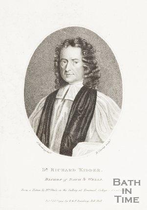 Engraving Dr. Richard Kidder Bishop of Bath and Wells