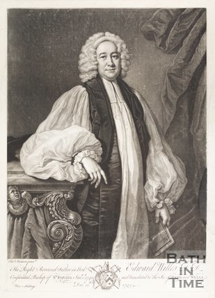 Portrait of Edward Wills D.D. Bishop of St. Davids January 2nd 1742 - December 12th 1743 translated to See of Bath and Wells
