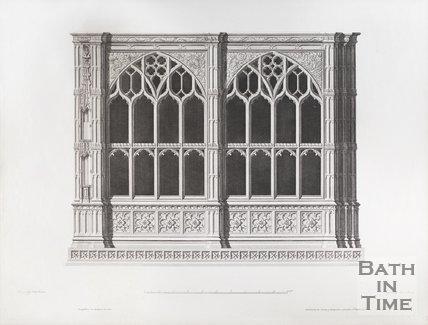 Engraving of Prior Bird's Oratory Bath Abbey 1798