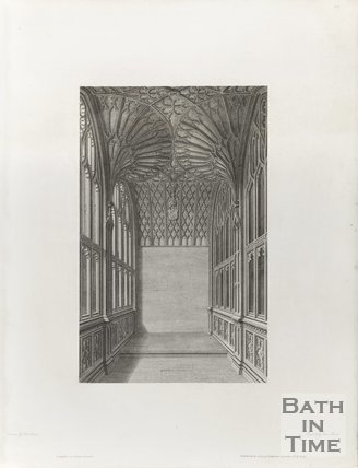 Details of Abbey Interior Bath Abbey 1798