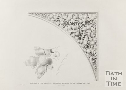 Another of the principle Spandrels (with one of the leaves full size) 1834
