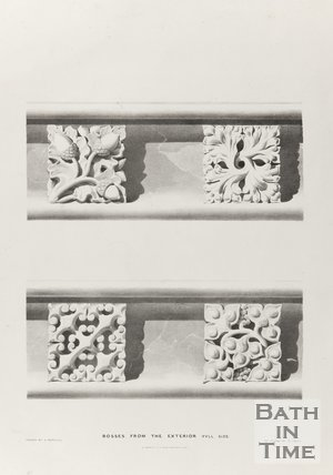 Bosses from the exterior (Full size), Bath Abbey 1834