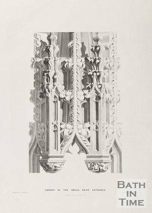 Canopy in the Ancle near entrance, Bath Abbey 1834